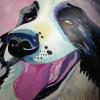 Max the dog A/C 24X36 Collection of the Artist NFS